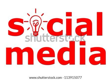 High resolution red social media - stock photo