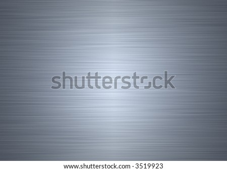 high resolution shiney brushed steel plate - stock photo