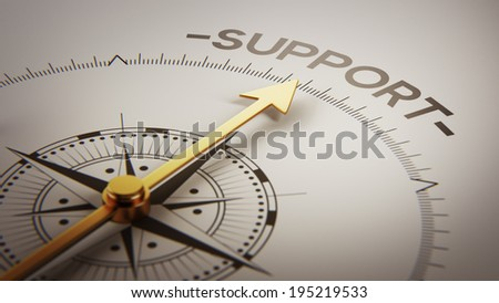High Resolution Support Concept - stock photo