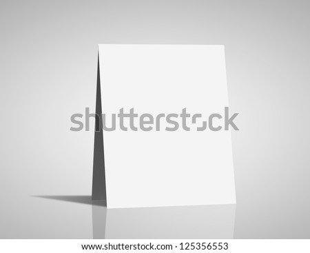 high resolution white blank card - stock photo