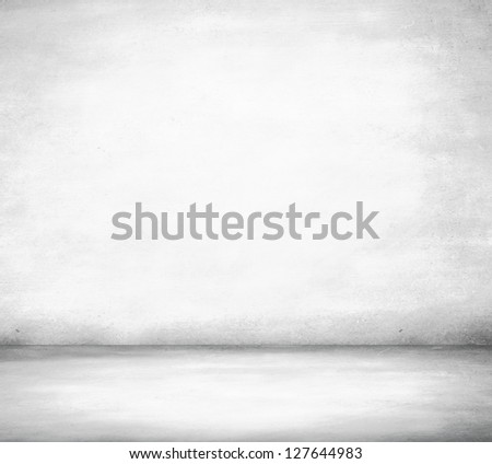 High resolution white concrete room - stock photo