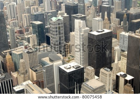 High Rise Buildings in Chicago, USA - stock photo