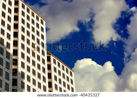 High-Rise in the Clouds - stock photo