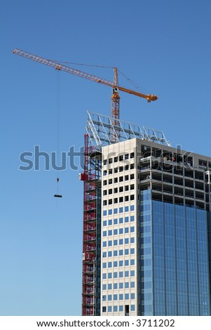 High-rise Office Building Under Construction - stock photo
