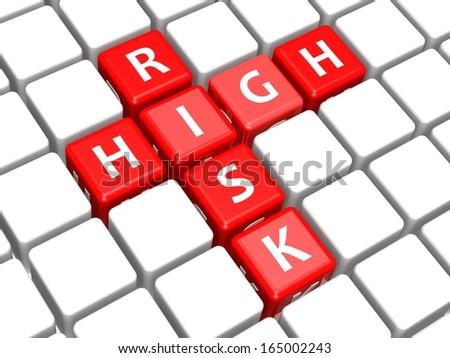 High risk - stock photo