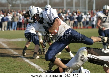 High school football. Editorial use. - stock photo