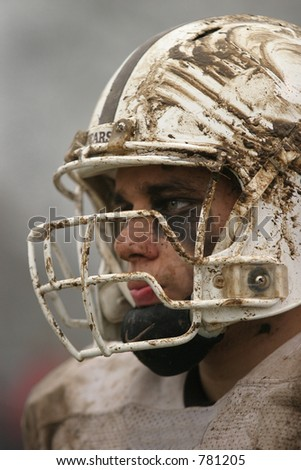 High School football. Vertical (one of two photos). Editorial use only. - stock photo