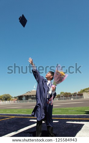 High school graduation - stock photo