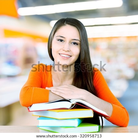 High School Student. - stock photo