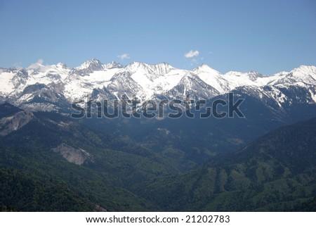 High Sierra Mountains - stock photo