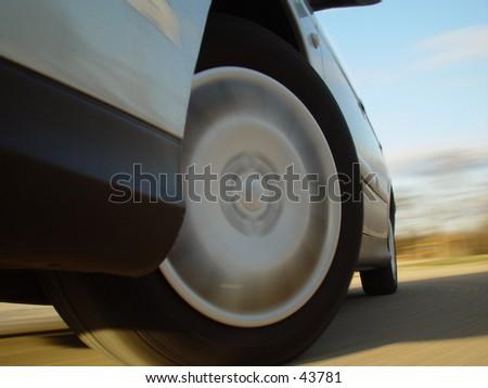 high speed car - stock photo