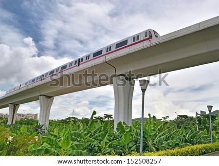 High-Speed Rail Viaduct  - stock photo