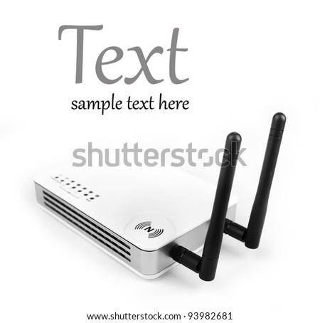 high-speed router wi-fi (n)  (With sample text) - stock photo