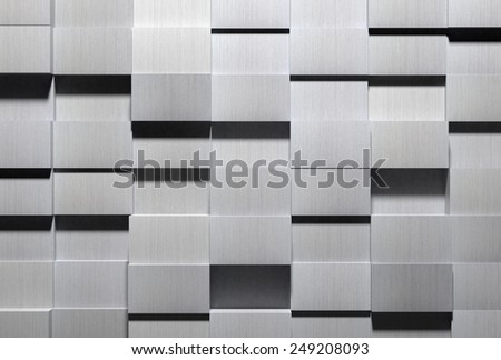 High Tech Aluminum Background - stock photo