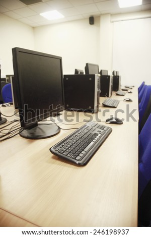 High tech computer lab - stock photo