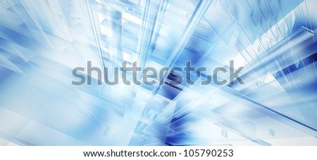 high tech glass wide aspect ratio - stock photo
