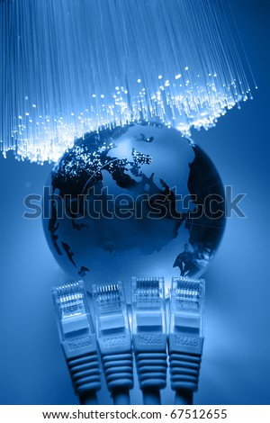 High tech technology color background - stock photo