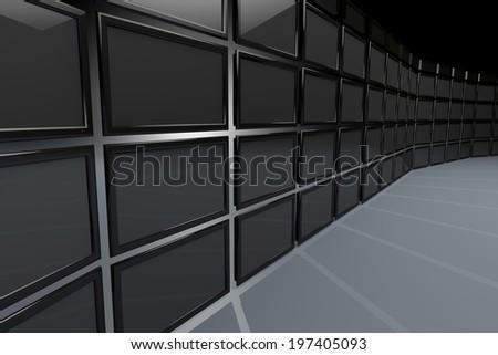 High Tech Videowall Presentation Concept - stock photo