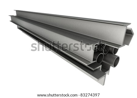 High technology background - profiles - stock photo
