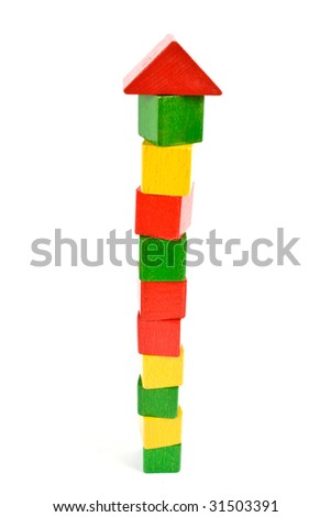 high toy tower - stock photo
