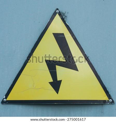 High voltage danger sign - stock photo