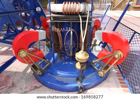 high-voltage electricity power station - stock photo