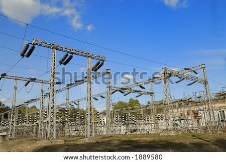 High voltage plant - stock photo