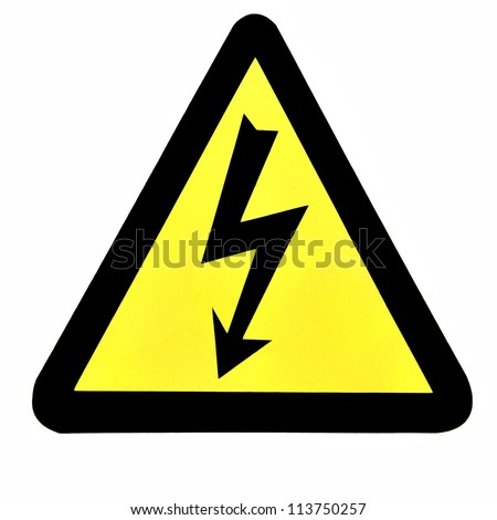 High Voltage Sign, Symbol - stock photo