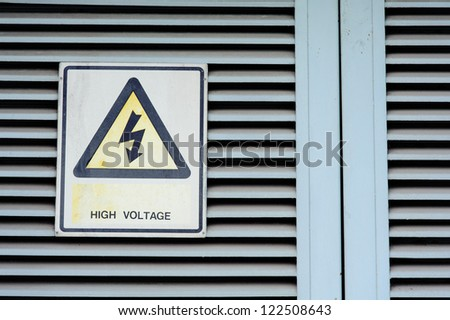 High voltage warning - stock photo