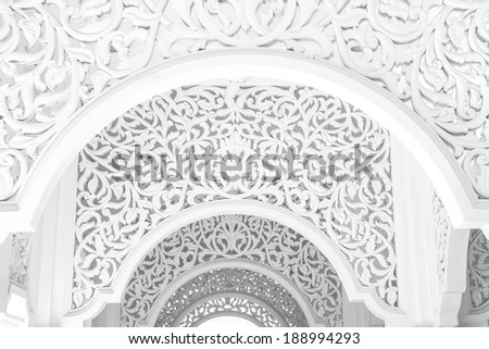 Highkey image of a beautiful intricate pattern  - stock photo