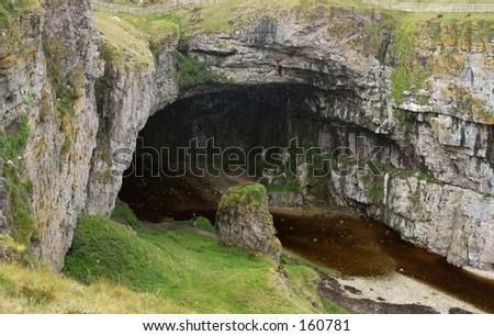 Highland Cave Scotland - stock photo
