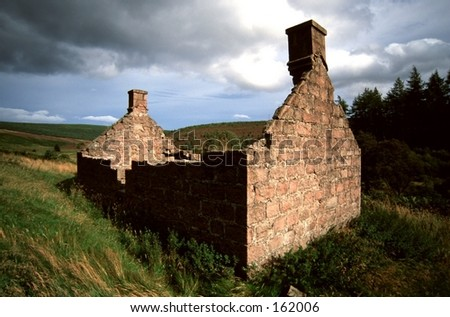 Highland Cottage - stock photo