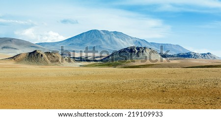 Highland desert plateau Altiplano, Bolivia, Latin  America - stock photo