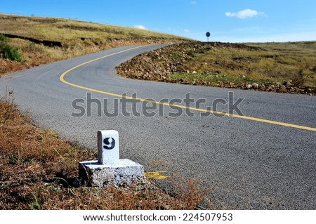 highland road - stock photo