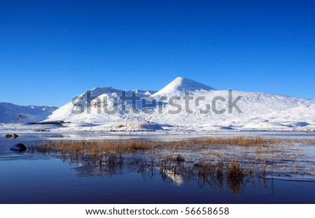 Highlands of Scotland in Winter. - stock photo