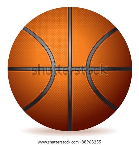 highly detailed basketball - stock photo