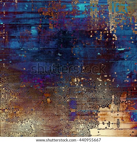 Highly detailed grunge background or scratched vintage texture. With different color patterns: yellow (beige); brown; blue; red (orange); purple (violet); black - stock photo