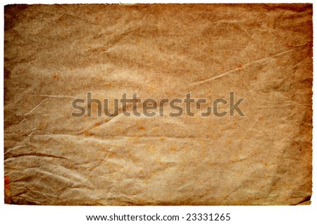 highly detailed old and worn paper texture background frame - perfect background with space for text or image - stock photo