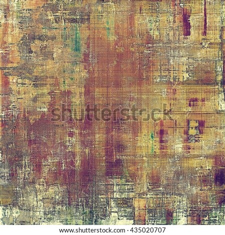 Highly detailed scratched texture, aged grungy background. Vintage style composition with different color patterns: yellow (beige); brown; green; gray; red (orange); purple (violet) - stock photo