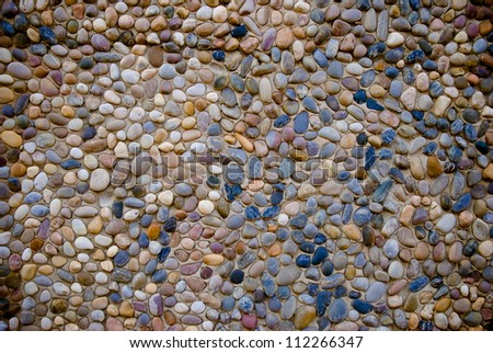 Highly weathered and colorful concrete stone background - stock photo