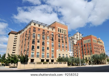 Highrise condominiums, Coral Gables, Florida - stock photo