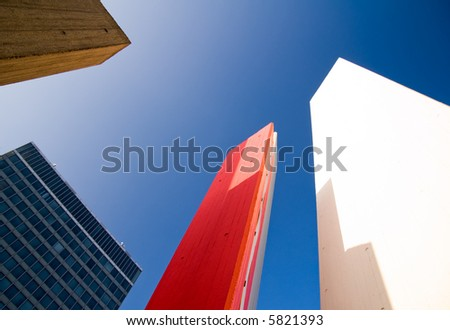 highrise objects and buildings - stock photo