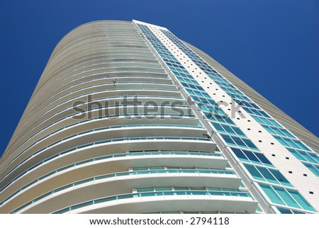 Highrise residential tower - stock photo