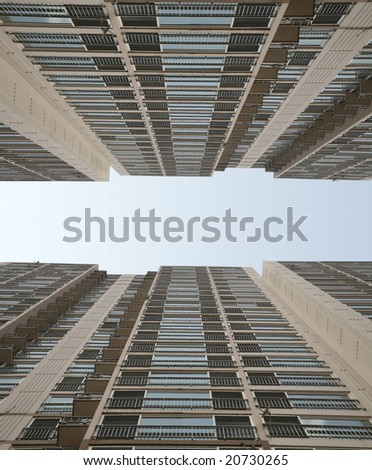 Highrise Towering into the Sky(Release Information: Editorial Use Only. Use of this image in advertising or for promotional purposes is prohibited.) - stock photo