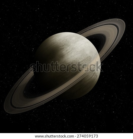 Hight quality Saturn image. Elements of this image furnished by NASA - stock photo