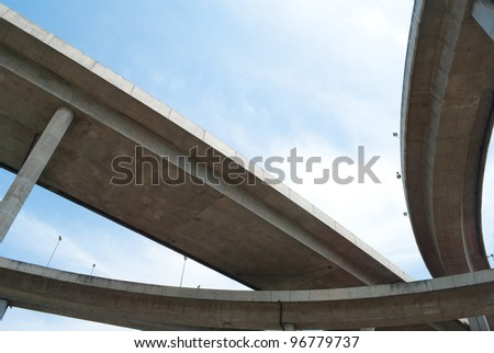 highway crossing - stock photo