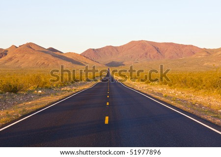 Highway in death valley national park, california - stock photo