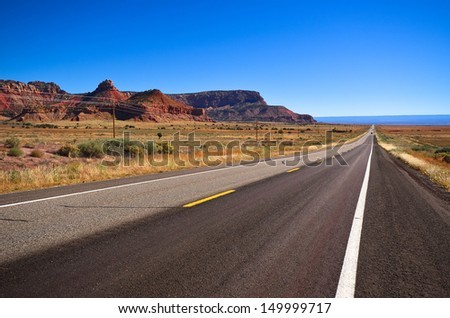 Highway in Grand Canyon - stock photo