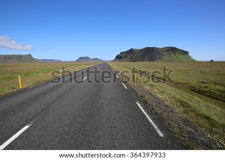 Highway in Iceland - stock photo