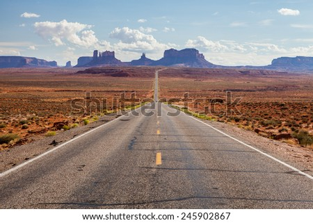 Highway in Utah - stock photo